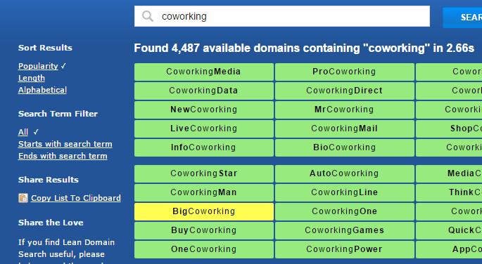 Leandomain search.com - herramienta para buscar dominios disponibles